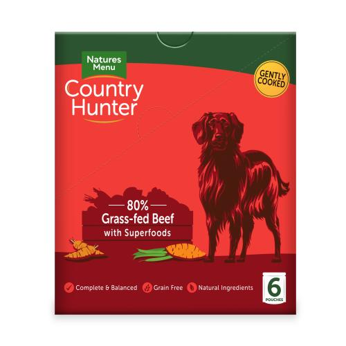 Natures Menu Country Hunter Beef Pouch Adult Dog Food