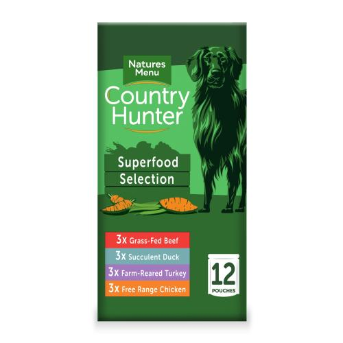 Natures Menu Country Hunter Superfood Selection Adult Dog Pouches