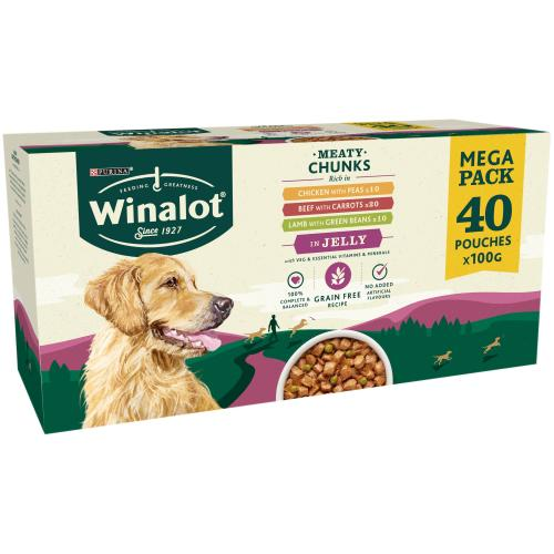 Winalot Multipack in Jelly Grain Free Wet Adult Dog Food