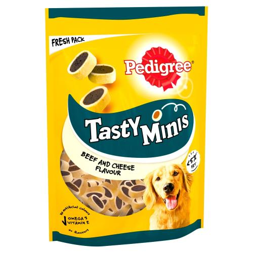 Pedigree Tasty Minis Cheese & Beef Nibbles Adult Dog Treats