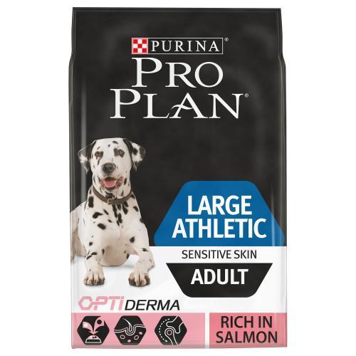 PRO PLAN OPTIDERMA Salmon Sensitive Skin Large Breed Athletic Adult Dog Food