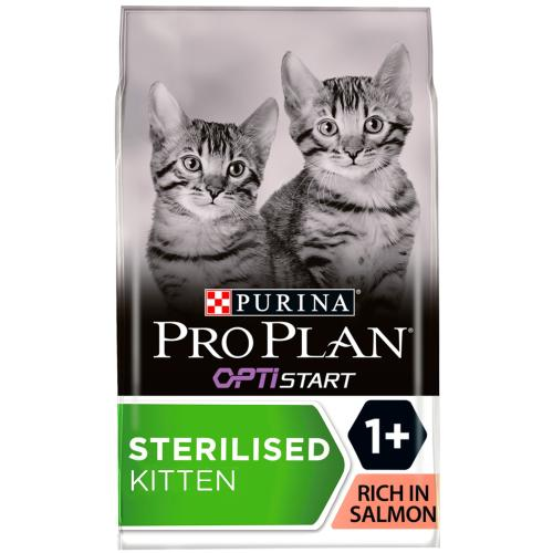 PRO PLAN OPTISTART Sterilised Salmon Dry Kitten Food