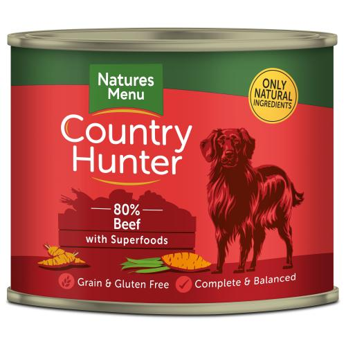 Natures Menu Country Hunter Beef Adult Dog Food Cans