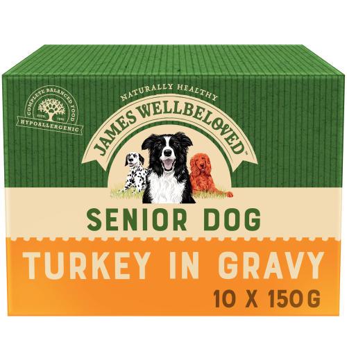 James Wellbeloved Turkey & Rice Senior Dog Pouches