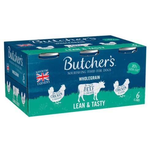 Butchers Lean & Tasty Low Fat Dog Food Tins (20% less fat)