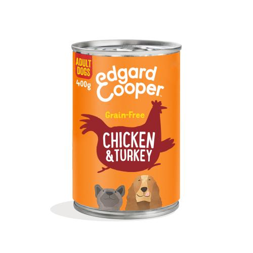 Edgard & Cooper Chicken & Turkey Grain Free Tins Wet Adult Dog Food