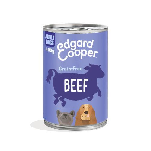 Edgard & Cooper Beef Grain Free Tins Wet Adult Dog Food