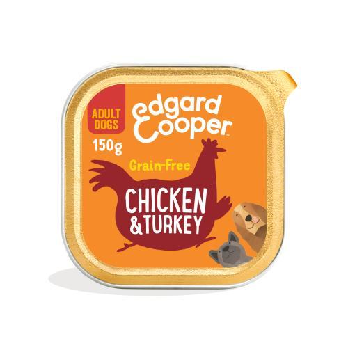 Edgard & Cooper Chicken & Turkey Grain Free Trays Wet Adult Dog Food