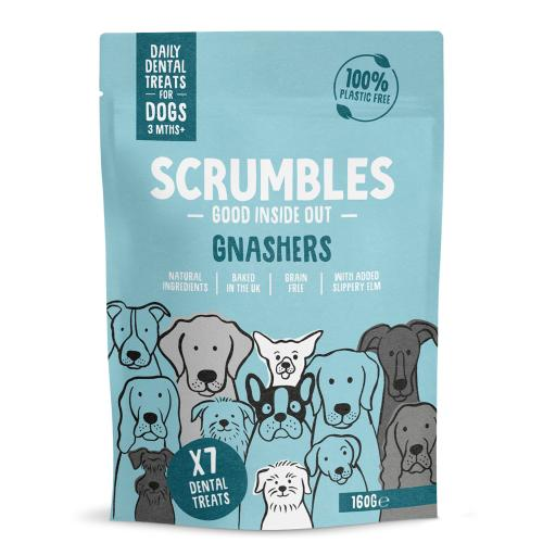 Scrumbles Gnashers Daily Dental Bones for Dogs