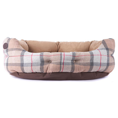 Barbour Luxury Bed in Taupe & Pink Tartan
