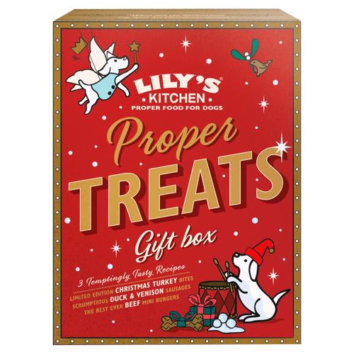 Lilys Kitchen Christmas Proper Treats Gift Box for Dogs