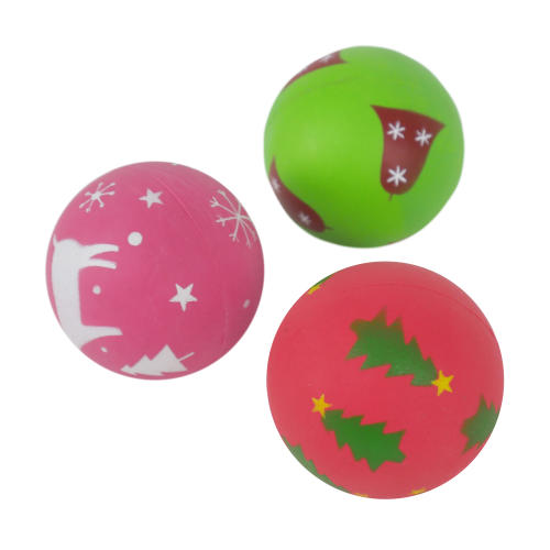 Rosewood Festive Rubber Ball Dog Toy