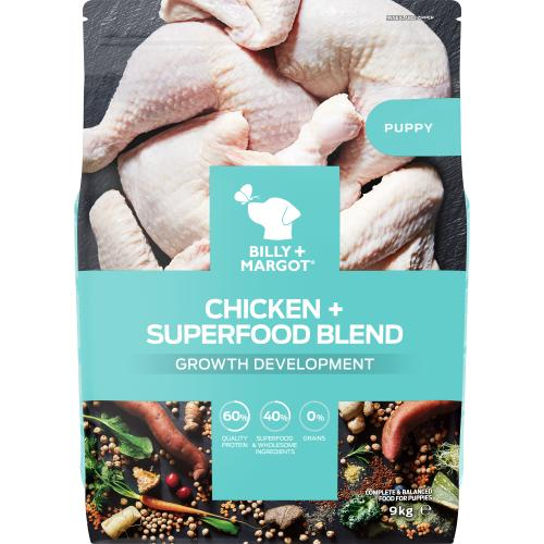 Billy & Margot Puppy Chicken & Superfood Dry Dog Food