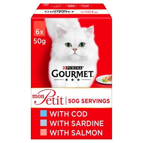 Gourmet Mon Petit Fish Recipes Pouches Adult Cat Food