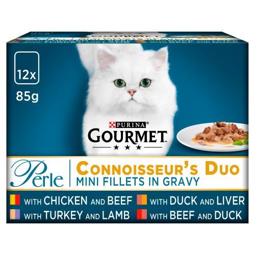 Gourmet Perle Connoisseurs Meats Duo Cat Food