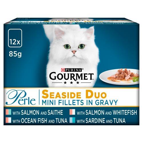 Gourmet Perle Pouch Seaside Duo in Gravy Cat Food