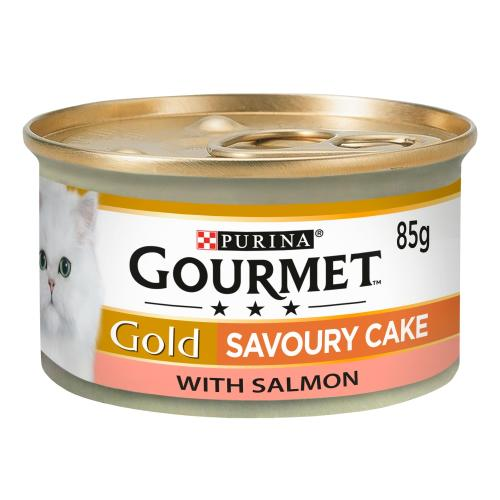 Gourmet Gold Savoury Cake Salmon Wet Adult Cat Food