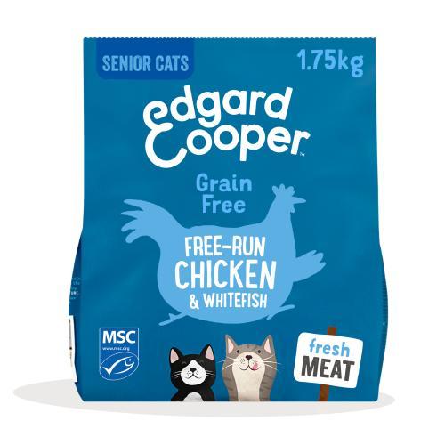 Edgard & Cooper Grain Free Chicken & Whitefish Dry Senior Cat Food
