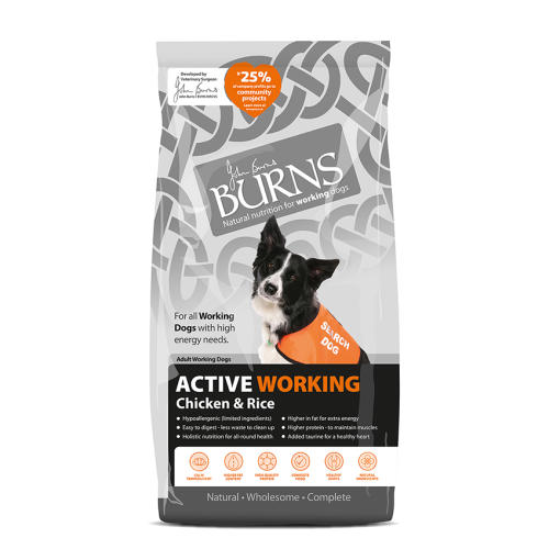 Burns Active Chicken & Rice Adult Dog Food