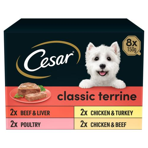 Cesar Trays Classics Selection Adult Dog Food