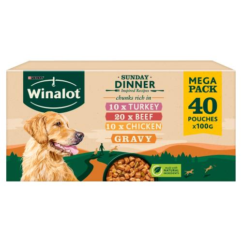 Winalot Sunday Dinner in Gravy Adult Dog Food