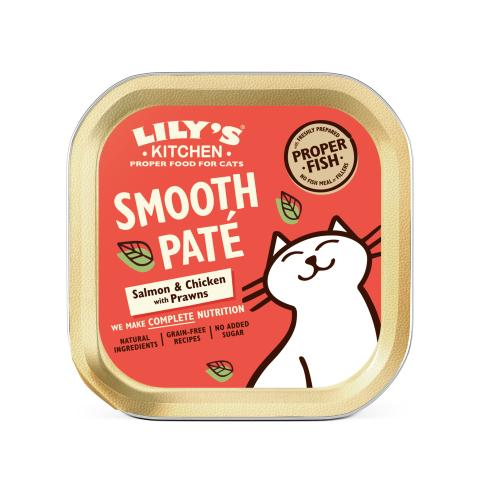 Lilys Kitchen Salmon & Chicken Pate Complete Wet Cat Food