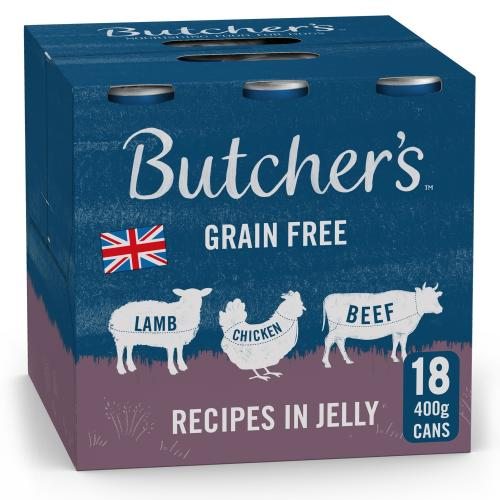 Butchers Meaty Recipes in Jelly Dog Food Tins