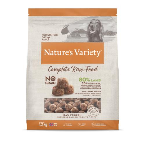 Natures Variety Complete Lamb Raw Frozen Adult Dog Food