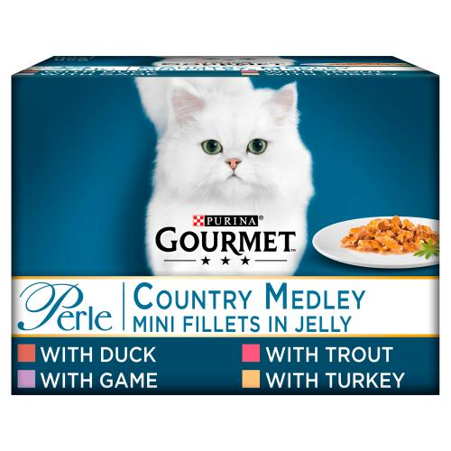 Gourmet Perle Country Medley in Jelly Adult Cat Food