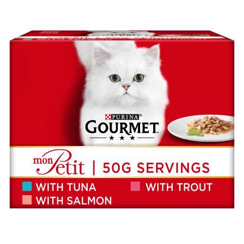 Gourmet Mon Petit Fish Pouches Adult Cat Food