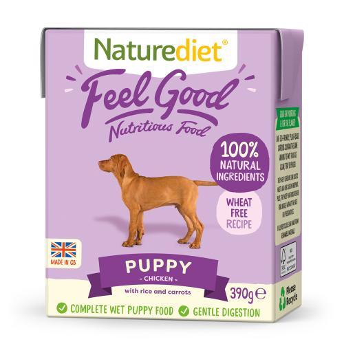 Naturediet Feel Good Chicken Puppy Wet Dog Food Cartons