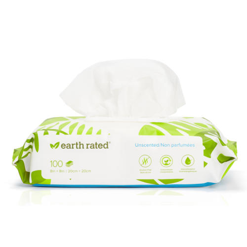 Earth Rated Unscented Compostable Dog Wipes