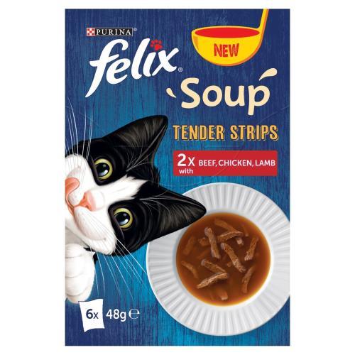 Felix Soup Tender Strips Farm Selection Cat Food
