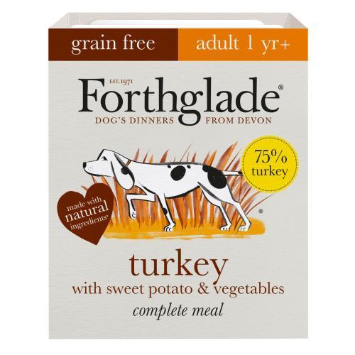 Forthglade Complete Grain Free Turkey Sweet Potato & Veg Adult Dog Food