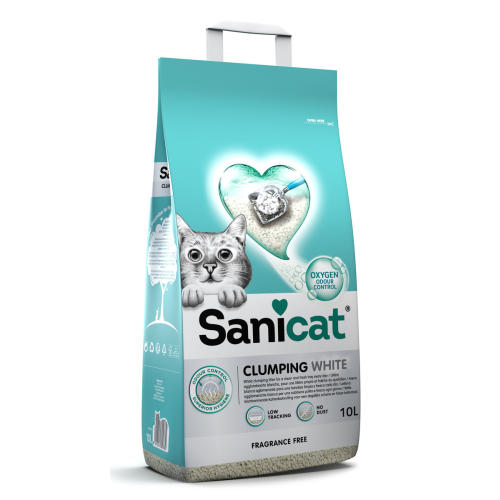 Sanicat Clumping White Unscented Cat Litter