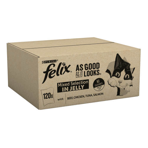 Felix As Good As It Looks 1+ Mixed Selection in Jelly Cat Food