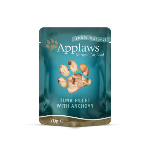 Applaws Natural Tuna Fillet with Anchovy in Broth Wet Adult Cat Food