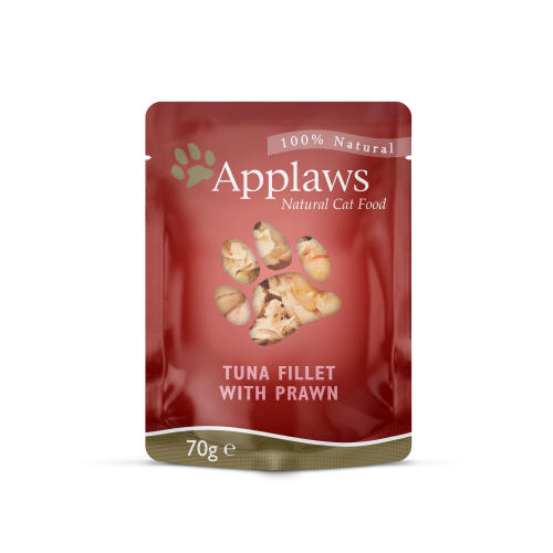 Applaws Natural Tuna Fillet with Pacific Prawn in Broth Wet Adult Cat Food