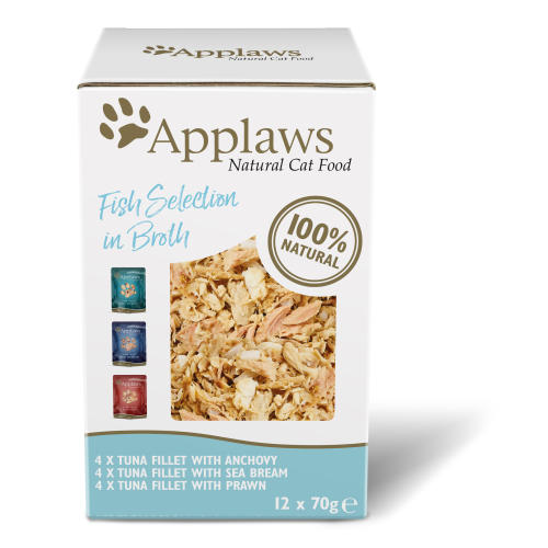 Applaws Natural Fish Selection in Broth Wet Adult Cat Food