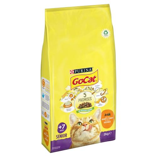 Go-Cat Chicken Rice & Vegetables Dry Senior Cat Food