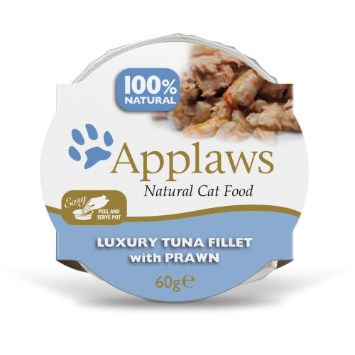 Applaws Natural Tuna Fillet with Prawn in Broth Pot Adult Cat Food