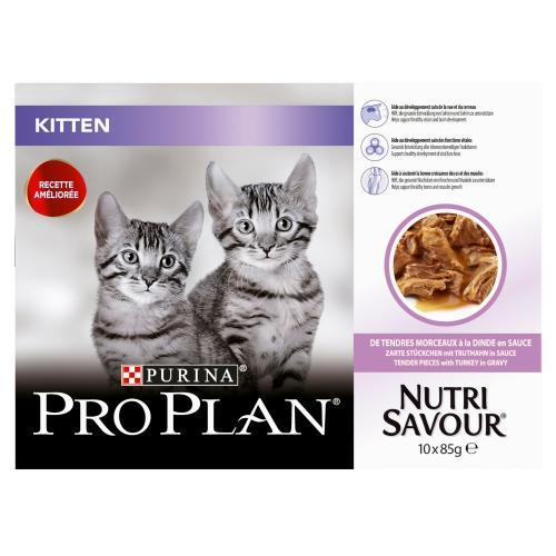 PRO PLAN NUTRISAVOUR Kitten Turkey in Gravy Cat Food