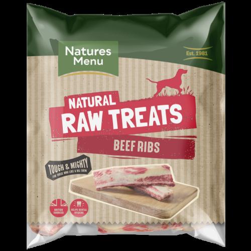 Natures Menu Beef Ribs Raw Frozen Natural Dog Treat
