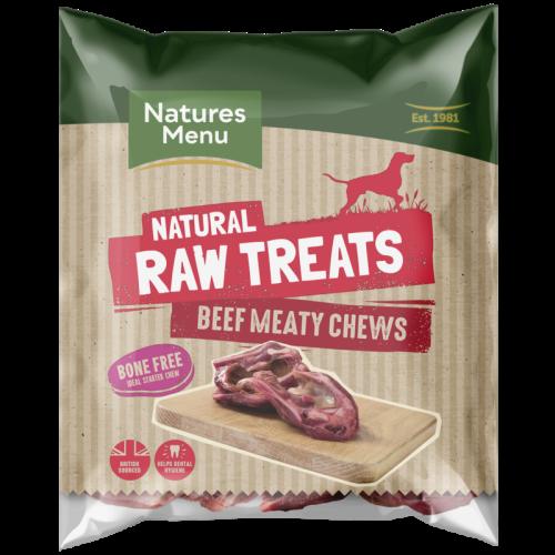 Natures Menu Beef Meaty Chews Raw Frozen Natural Dog Treat