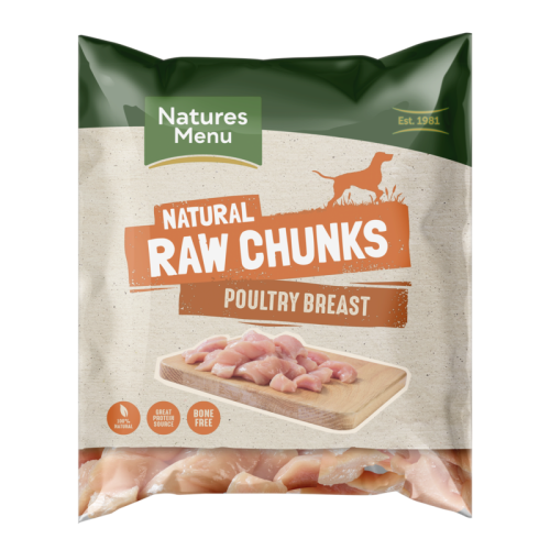 Natures Menu Poultry Breast Chunks Raw Frozen Dog Food