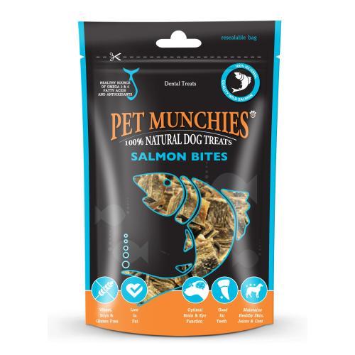 Pet Munchies Natural Salmon Bites Dog Treats