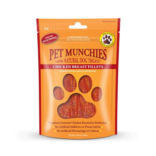 Pet Munchies Natural Chicken Breast Fillets Dog Treats