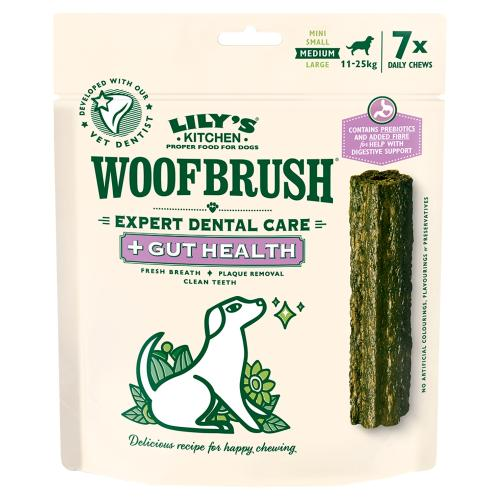 Lilys Kitchen Gut Health Woofbrush Dental Chews for Dogs