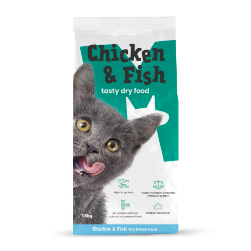 Monster Pet Foods Chicken & Fish with Rice Dry Kitten Food
