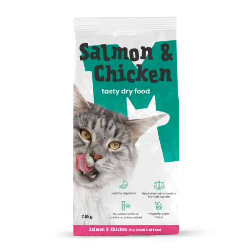 Monster Pet Foods Salmon & Chicken with Rice Dry Adult Cat Food